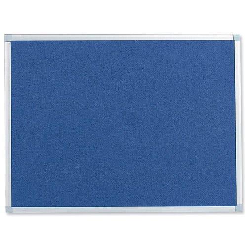 Felt Noticeboard W900x600mm Blue Aluminium Trim | Wall fixing kit included | Felt back noticeboard | Fusion Office