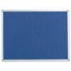 Felt Noticeboard W1200x900mm Blue Aluminium Trim | Wall fixing kit included | Felt back noticeboard | Fusion Office