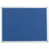 Felt Noticeboard W1800x1200mm Blue Aluminium Trim   Wall fixing kit included   Felt back noticeboard   Fusion Office