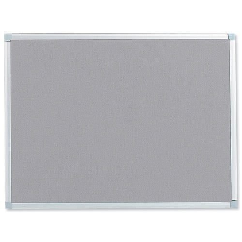Felt Noticeboard W900x600mm Grey Aluminium Trim | Wall fixing kit included | Felt back noticeboard | Fusion Office