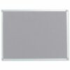 Felt Noticeboard W1200x900mm Grey Aluminium Trim   Wall fixing kit included   Felt back noticeboard   Fusion Office