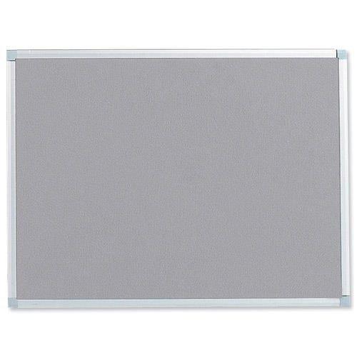 Felt Noticeboard W1800x1200mm Grey Aluminium Trim | Wall fixing kit included | Felt back noticeboard | Fusion Office