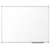 Nobo Classic Melamine Whiteboard 600x450mm 1905201   Contemporary, slim and unobtrusive frame   InvisaMount™ system   Fusion Office UK