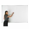 Adboards WCNM-1209-99 Non-Magnetic Dry Wipe Board 1200x900mm   Double Sided Plain & 25mm Grid   Made in the UK   Fusion Office UK
