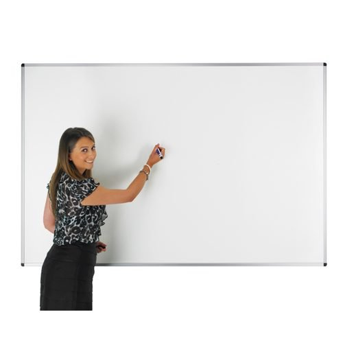 Adboards WCNM-1212-99 Non-Magnetic Dry Wipe Board 1200x1200mm | Double Sided Plain & 25mm Grid | Made in the UK | Fusion Office UK