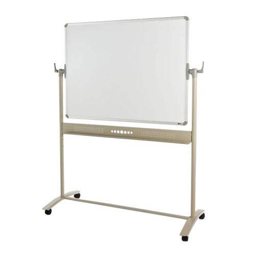 Adboards WSMM-1812-98 Magnetic Mobile Drywipe Whiteboard 1800x1200mm   Light & Robust Steel Frame   Locking Castors   Fusion Office UK