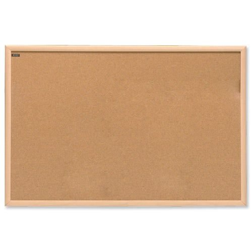 Nobo Cork Noticeboard 1200x900mm 37639004   Self-healing cork surface   High quality wooden frame   10 year guarantee   Fusion Office UK