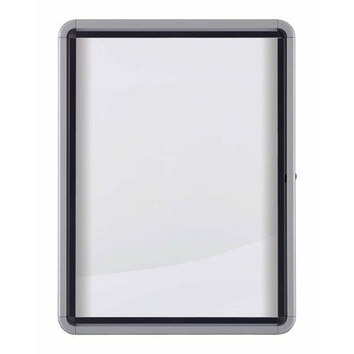 Nobo 6xA4 Outdoor Magnetic Lockable Board 1902578 | Outdoor weatherproof lockable notice board with a safety glass door | Fusion Office UK