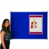 Adboards NCFT-1512-01 Classic Felt Noticeboard 1500x1200mm Blue | Accepts Pins | Made in the UK | Fabric is fire retardant | Fusion Office UK