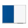 Nobo Combination Board 900x600 Magnetic Drywipe and Felt 1902257 | Excellent felt and steel surface to display notices | Fusion Office UK