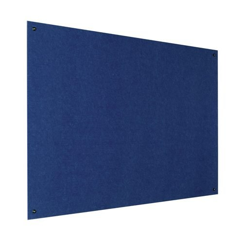 Resist-a-Flame Frameless Noticeboard 900x600 Blue Metroplan UFB32/BL | With both fire-resistant and acoustic properties | Fusion Office UK