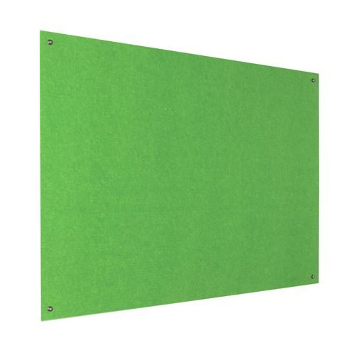 Resist-a-Flame Frameless Noticeboard 1200x1200 Green Metroplan UFB44/GR | Both fire-resistant & acoustic properties | Fusion Office UK