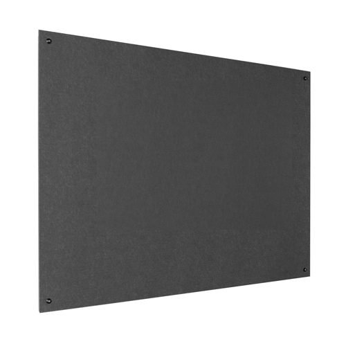 Resist-a-Flame Frameless Noticeboard 1500x1200 Charcoal Metroplan UFB54/CH   Both fire-resistant & acoustic properties   Fusion Office UK