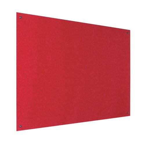 Resist-a-Flame Frameless Noticeboard 1800x1200 Red Metroplan UFB64/RD | Both fire-resistant & acoustic properties | Fusion Office UK