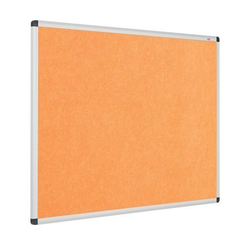 Resist-a-Flame Noticeboard 1200x900 Orange Eco-Colour Metroplan 22643/OR   Fire Resistant and with Acoustic Properties   Fusion Office UK