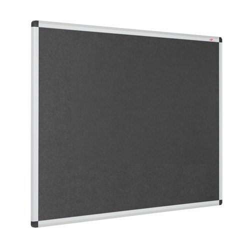 Resist-a-Flame Noticeboard 1200x1200 Charcoal Eco-Colour Metroplan 22644/CH | Fire Resistant and with Acoustic Properties | Fusion Office UK