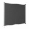 Resist-a-Flame Noticeboard 1800x1200 Charcoal Eco-Colour Metroplan 22664/CH | Fire Resistant and with Acoustic Properties | Fusion Office UK