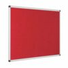 Resist-a-Flame Noticeboard 1800x1200 Red Eco-Colour Metroplan 22664/RD | Fire Resistant and with Acoustic Properties | Fusion Office UK
