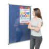 Resist-a-Flame Lockable Noticeboard 900x600 Blue Metroplan CBT32/BL | designed to protect the information on display | Fusion Office UK