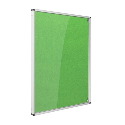 Resist-a-Flame Lockable Noticeboard 1200x900 Green Metroplan CBT43/GR   designed to protect the information on display   Fusion Office UK