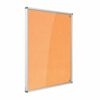 Resist-a-Flame Lockable Noticeboard 1200x1200 Orange Metroplan CBT44/OR   designed to protect the information on display   Fusion Office UK