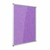 Resist-a-Flame Lockable Noticeboard 1200x1200 Purple Metroplan CBT44/PU   designed to protect the information on display   Fusion Office UK