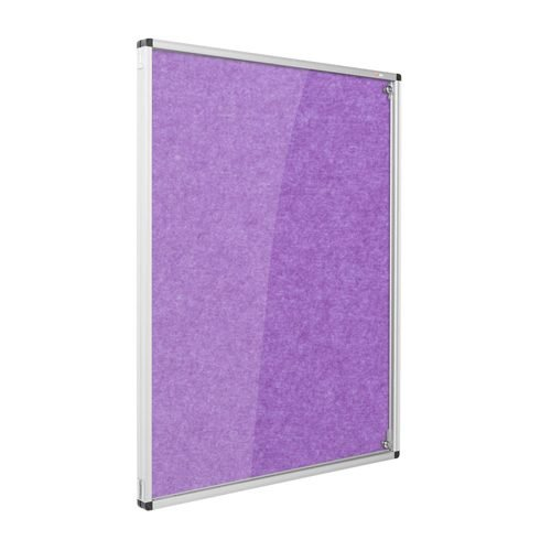 Resist-a-Flame Lockable Noticeboard 1200x1200 Purple Metroplan CBT44/PU | designed to protect the information on display | Fusion Office UK