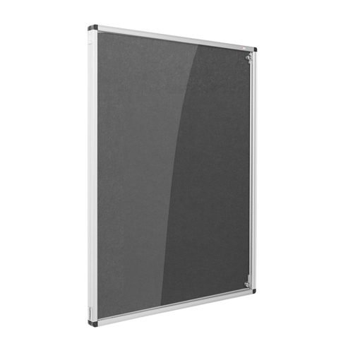 Resist-a-Flame Lockable Noticeboard 2400x1200 Charcoal Metroplan CBT84/CH | designed to protect the information on display | Fusion Office UK