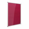 Resist-a-Flame Lockable Noticeboard 2400x1200 Raspberry Metroplan CBT84/RS | designed to protect the information on display | Fusion Office