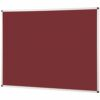Metroplan Noticeboard 600x450mm Burgundy 44531/BU | Quality Noticeboard | Accepts Velcro® and pins | Fusion Office UK
