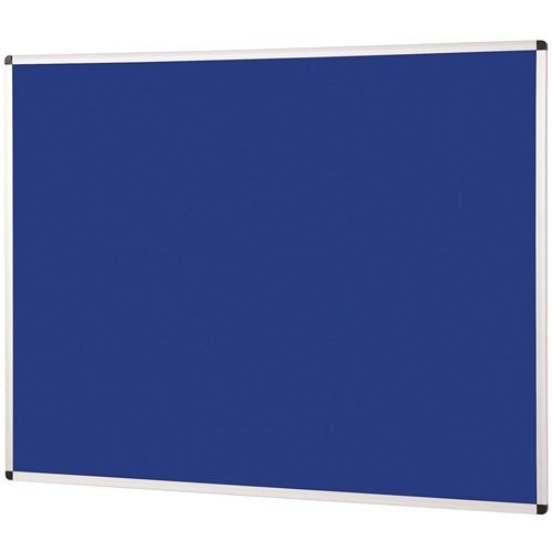 Metroplan Noticeboard 900x600mm Blue 44532/DB   Quality Noticeboard   Accepts Velcro® and pins   Fusion Office UK