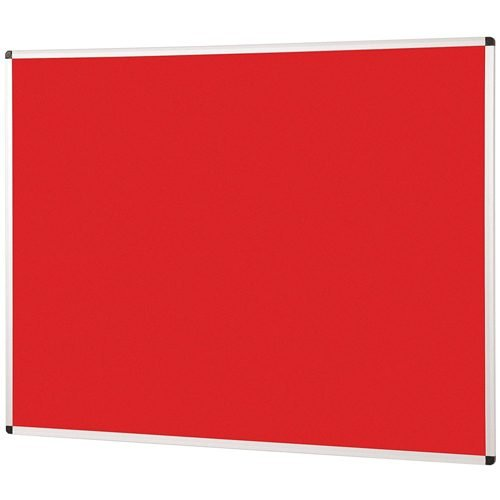 Metroplan Noticeboard 2400x1200mm Red 44584/RD | Quality Noticeboard | Accepts Velcro® and pins | Fusion Office UK
