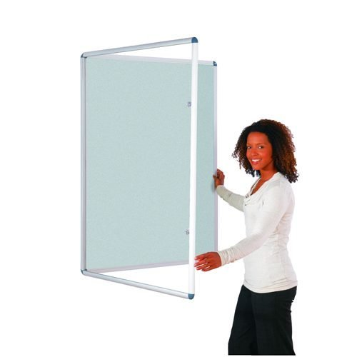 Tamperproof Noticeboard 1200x900mm Grey Metroplan TP1290/LG | Protecting notices in busy public areas | Fusion Office UK