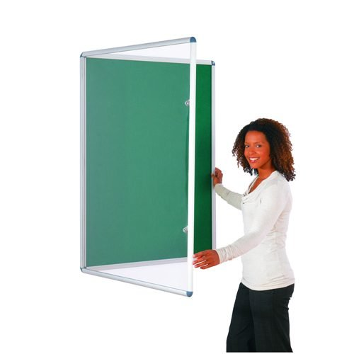 Tamperproof Noticeboard 1200x900mm Green Metroplan TP1290/GR | Protecting notices in busy public areas | Fusion Office UK