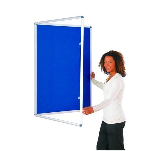 Tamperproof Noticeboard 1200x1200mm Blue Metroplan TP1212/DB | Protecting notices in busy public areas | Fusion Office UK