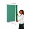 Tamperproof Noticeboard 1200x1200mm Green Metroplan TP1212/GR | Protecting notices in busy public areas | Fusion Office UK