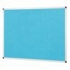 ColourPlus Noticeboard 900x600mm Cyan Metroplan PS9060/CY | Bright contemporary coloured fabric noticeboard | Fusion Office UK