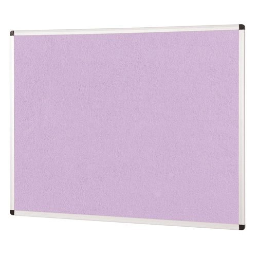 ColourPlus Noticeboard 900x600mm Lilac Metroplan PS9060/LC | Bright contemporary coloured fabric noticeboard | Fusion Office UK