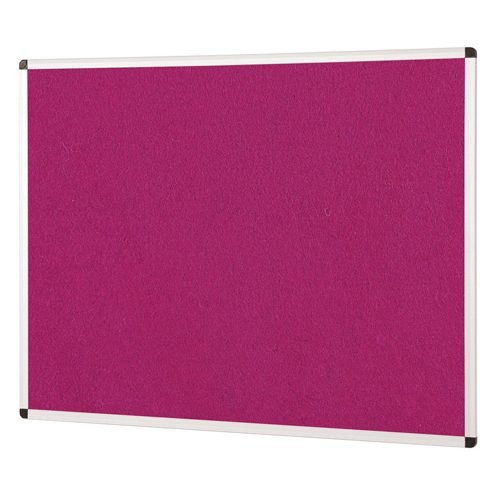ColourPlus Noticeboard 1200x900mm Magenta Metroplan PS1290/MG | Bright contemporary coloured fabric noticeboard | Fusion Office UK