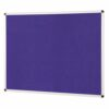 ColourPlus Noticeboard 1200x900mm Purple Metroplan PS1290/PU   Bright contemporary coloured fabric noticeboard   Fusion Office UK