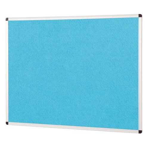 ColourPlus Noticeboard 1200x1200mm Cyan Metroplan PS1212/CY | Bright contemporary coloured fabric noticeboard | Fusion Office UK