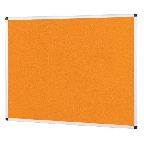 ColourPlus Noticeboard 1200x1200mm Orange Metroplan PS1212/OR | Bright contemporary coloured fabric noticeboard | Fusion Office UK