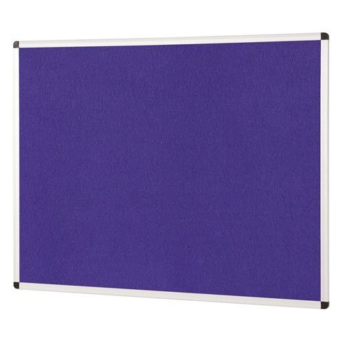 ColourPlus Noticeboard 1200x1200mm Purple Metroplan PS1212/PU | Bright contemporary coloured fabric noticeboard | Fusion Office UK