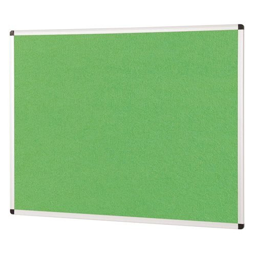 ColourPlus Noticeboard 1800x1200mm Apple Green Metroplan PS1812/AG | Bright contemporary coloured fabric noticeboard | Fusion Office UK