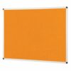 ColourPlus Noticeboard 2400x1200mm Orange Metroplan PS2412/OR | Bright contemporary coloured fabric noticeboard | Fusion Office UK