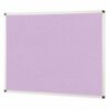 ColourPlus Noticeboard 2400x1200mm Lilac Metroplan PS2412/LC | Bright contemporary coloured fabric noticeboard | Fusion Office UK