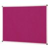 ColourPlus Noticeboard 2400x1200mm Magenta Metroplan PS2412/MG | Bright contemporary coloured fabric noticeboard | Fusion Office UK
