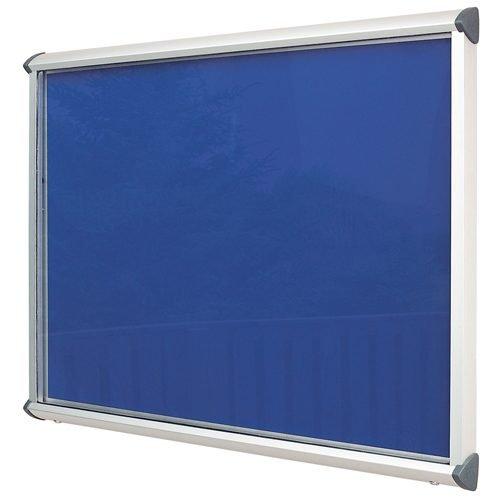 Aluminium Exterior Showcase 967x750mm Blue Metroplan SCEL8/AL/RB | Contemporarily aluminium framed exterior showcase | Fusion Office UK