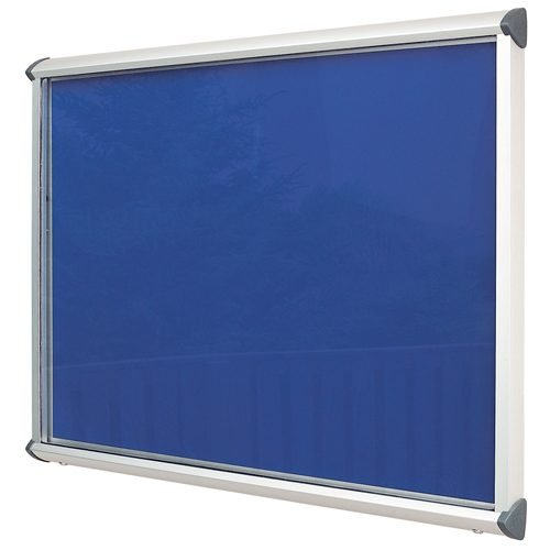 Aluminium Exterior Showcase 1182x1050mm Blue Metroplan SCEP15/AL/RB | Accommodates 15 x A4 Sheets | Fitted with two locks | Fusion Office UK