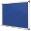 Aluminium Exterior Showcase 1397x1050mm Blue Metroplan SCEP18/AL/RB | Accommodates 18 x A4 Sheets | Fitted with two locks | Fusion Office UK
